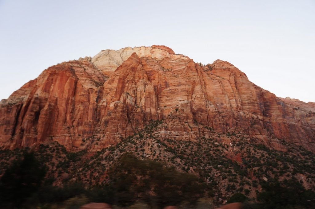 Zion national park, perle rouge